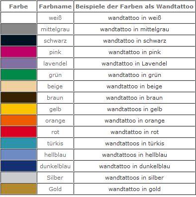 verfügbare Farben
